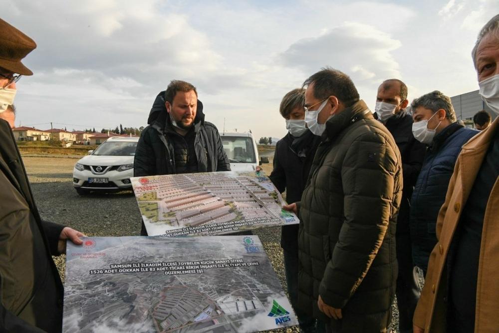 Başkan Demir, proje çalışmalarını yerinde inceledi
