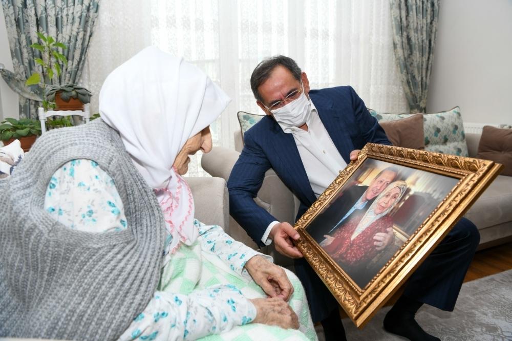98 yaşındaki Kosifoğlu'nun Erdoğan sevgisi